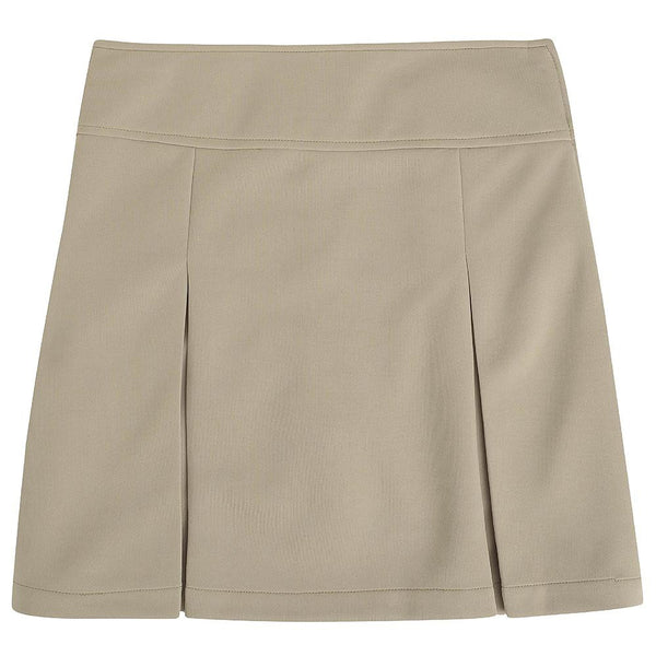 Khaki Kick Pleat Uniform Skirt