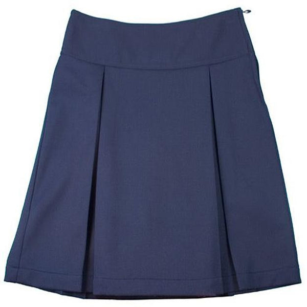 Navy Kick Pleat Uniform Skirt