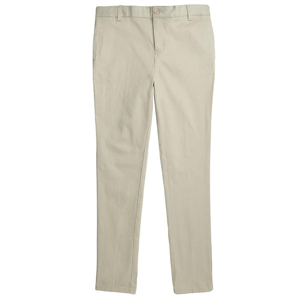 Khaki Girls Adjustable Waist Uniform Pants