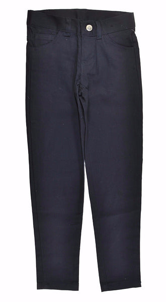 Navy Girls Skinny Stretch Pants