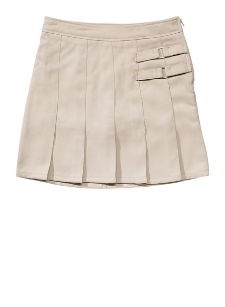 Khaki Adjustable Waist Uniform Skirt