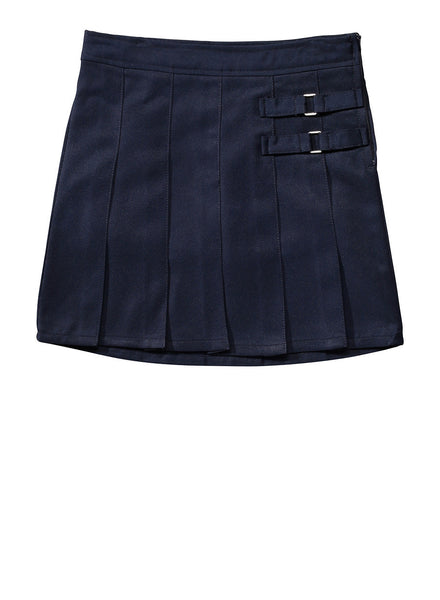 Navy Adjustable Waist Uniform Skirt