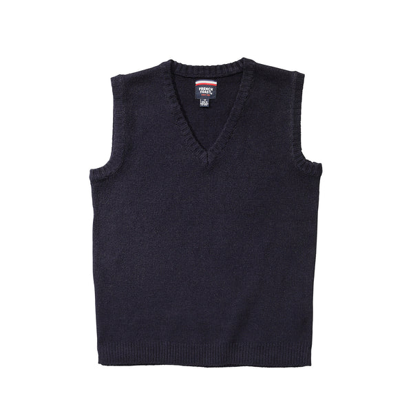 Navy Anti Pill V-Neck Vest w/ Logo