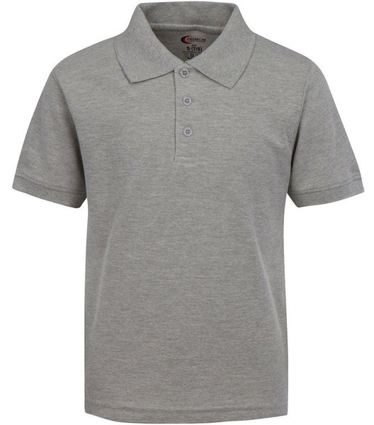 Grey Boys Pique Polo w/ Logo