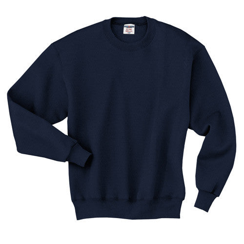 Navy Crew Neck Sweatshirt w/ Logo