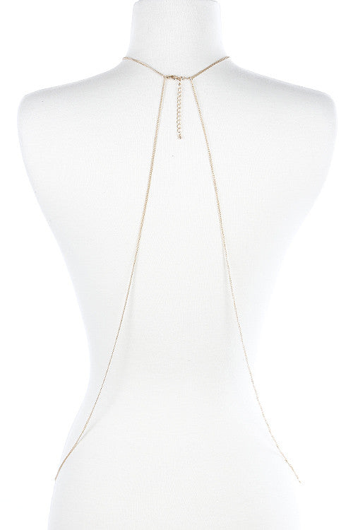 Circle Charm Linked Body Chain