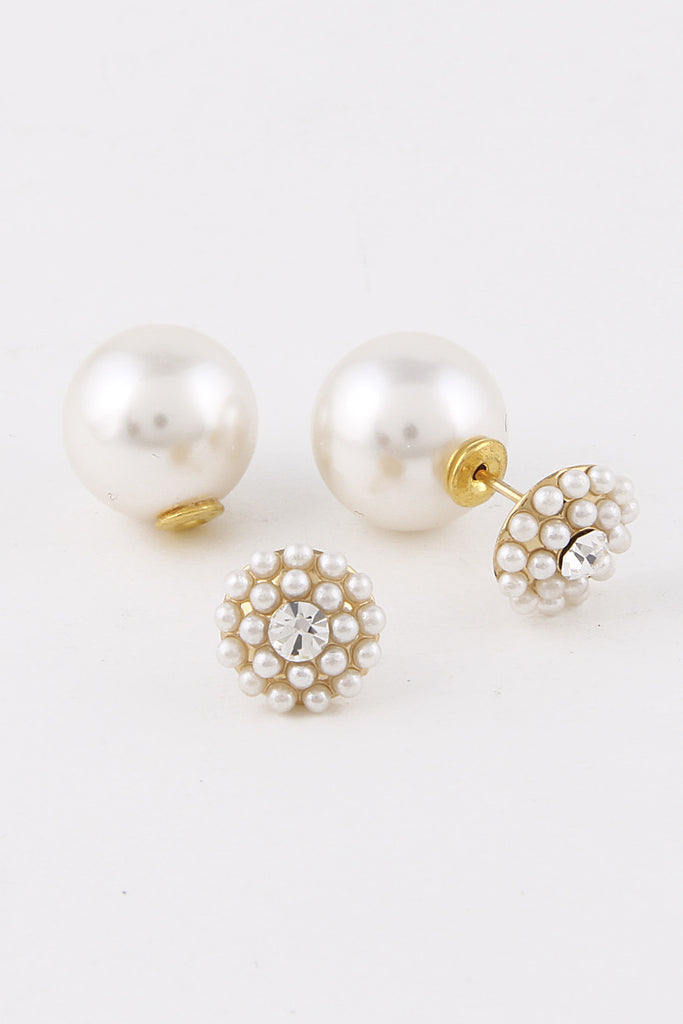 Pearls Double Side Earring