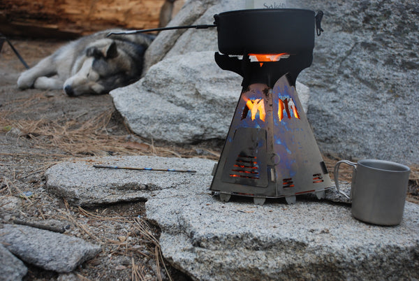 Phoenix Wood Burning Titanium Camp Stove Mummert Knives