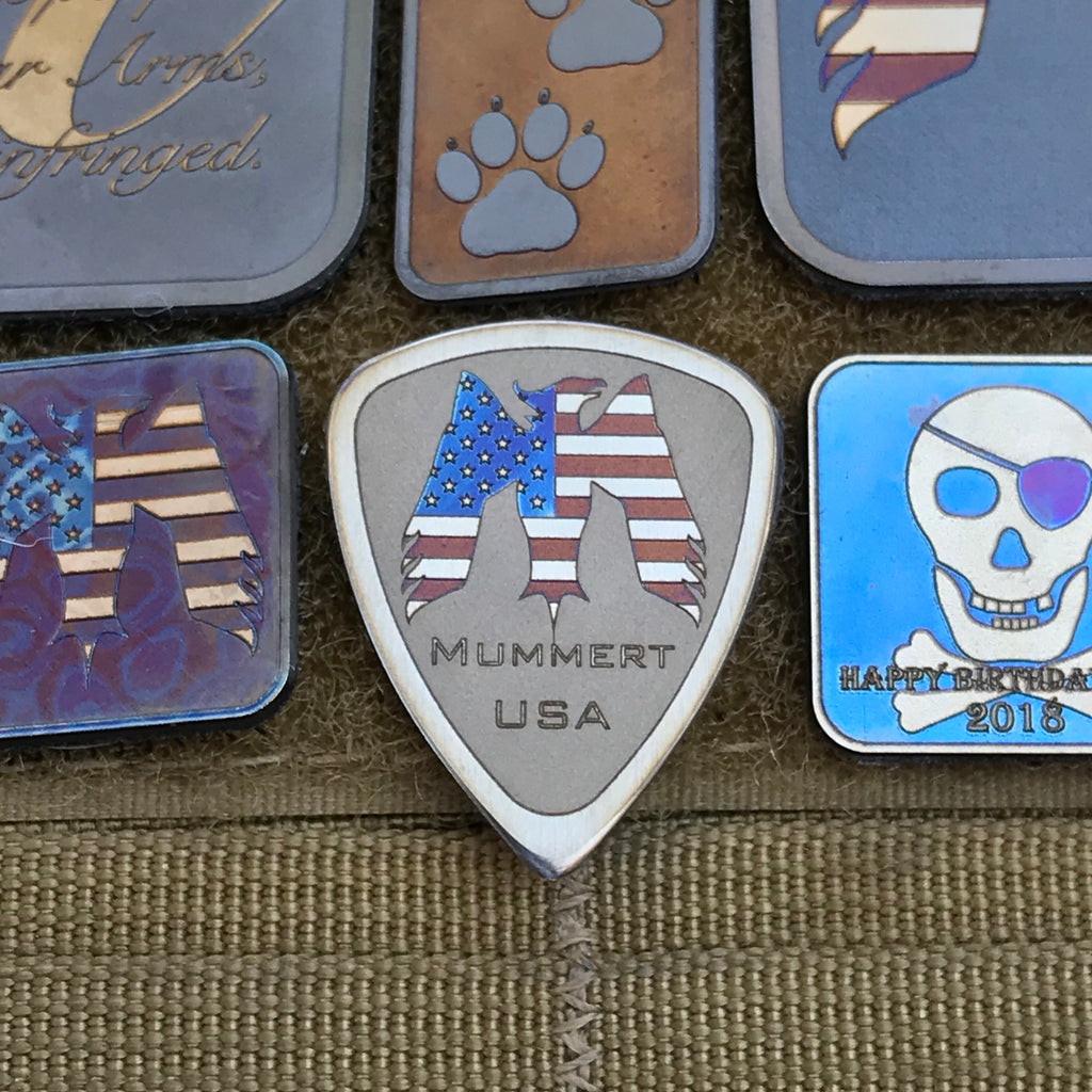 Ti Guitar Pick Patch