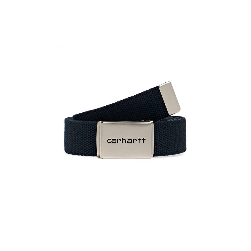 Carhartt WIP Clip Belt Chrome - Dark Navy