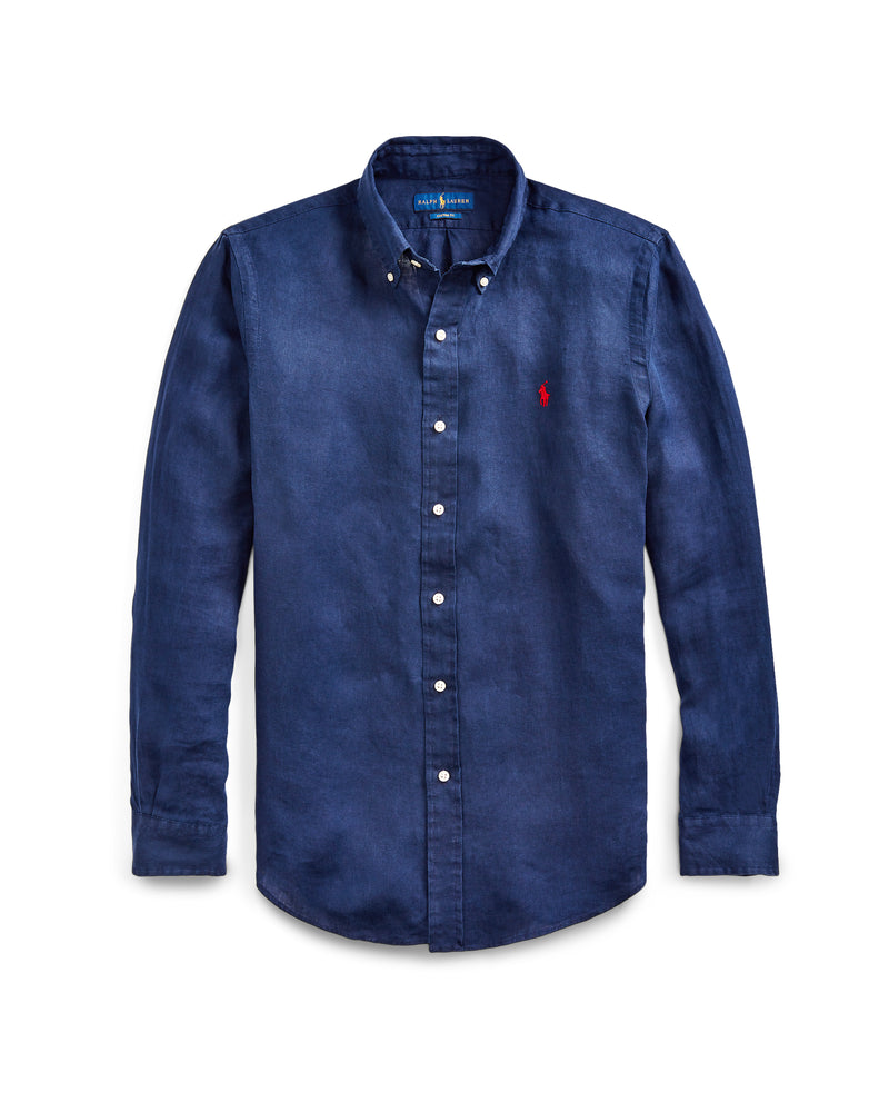 Woven Button Up Shirt - Navy