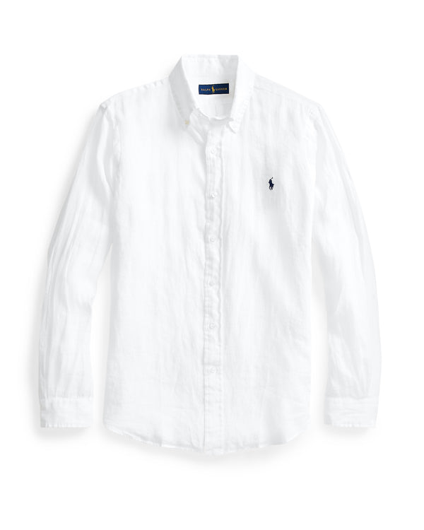 Woven Button Up Shirt - White