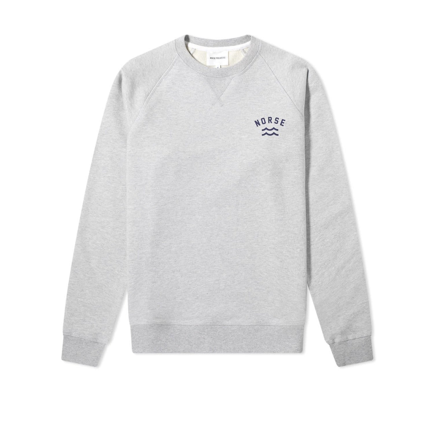 Norse Projects Ketel Ivy Wave Logo Crew - Light Grey