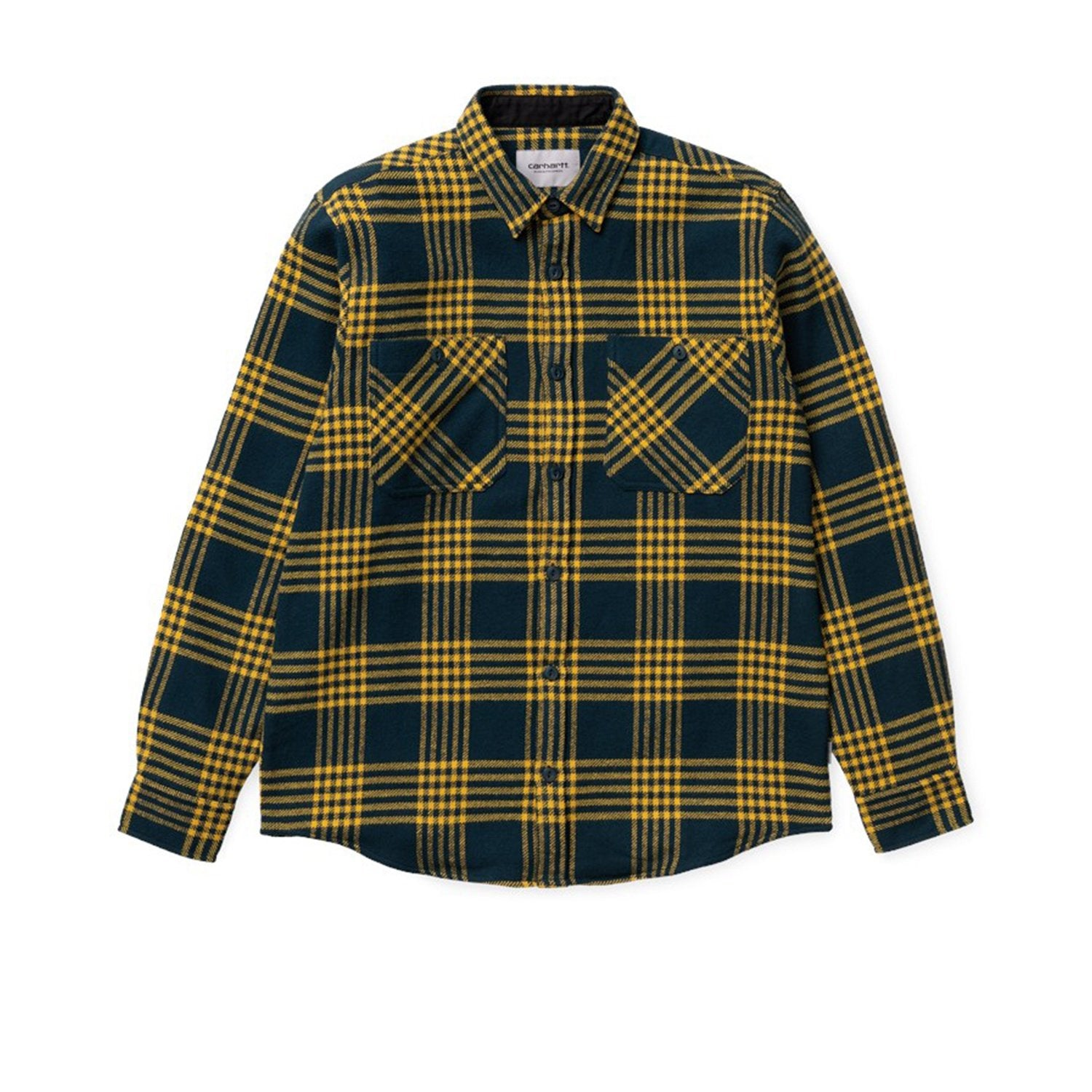 Carhartt WIP SS20 L/S Lambie Shirt- Duck Blue/Colza