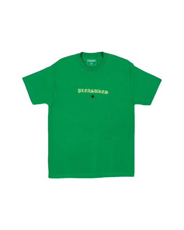 Pleasures Shine Embroidered T-Shirt - Green