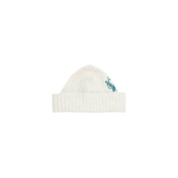 HAL W19 -Lady Justice Embroid Beanie - Oatmeal