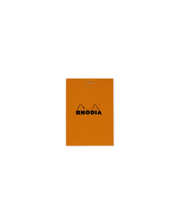 RHODIA  Top Stapled Pocketbook 5x5 Grid - Orange