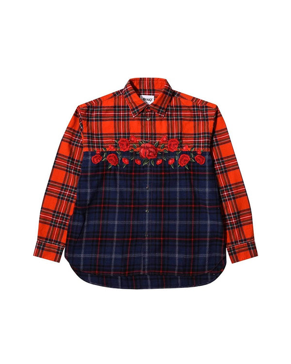 Awake NY Rose Flannel Shirt - Red