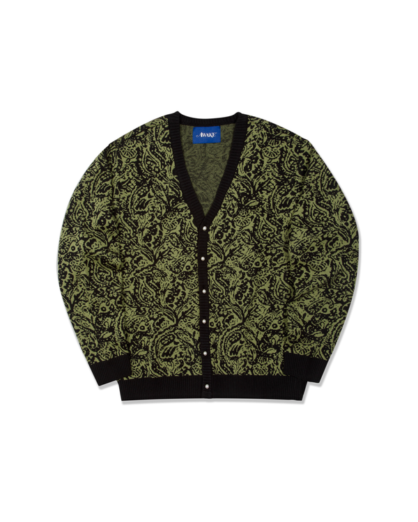 Paisley Knitted Cardigan - Black