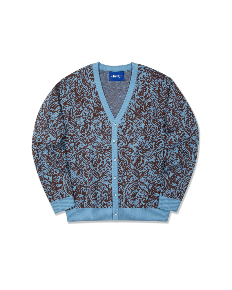 Paisley Knitted Cardigan - Carolina
