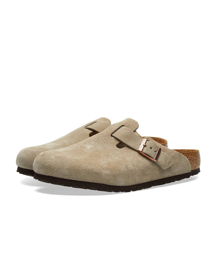 Birkenstock Boston Suede Leather - Taupe