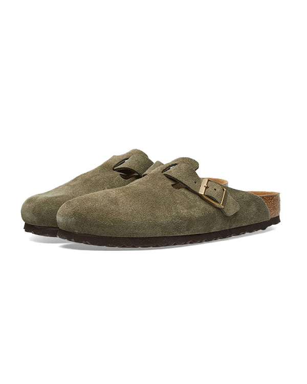 Birkenstock Boston Suede Leather - Forest