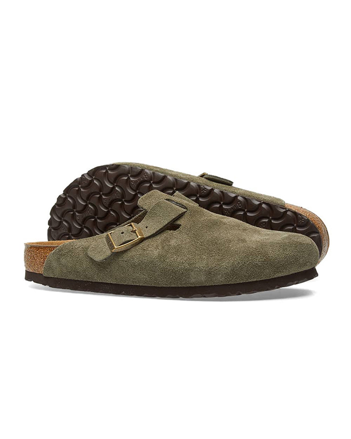 Birkenstock Boston SFB - Forest Suede Leather
