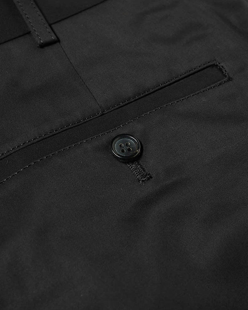 Cotton Chino Trousers - Black