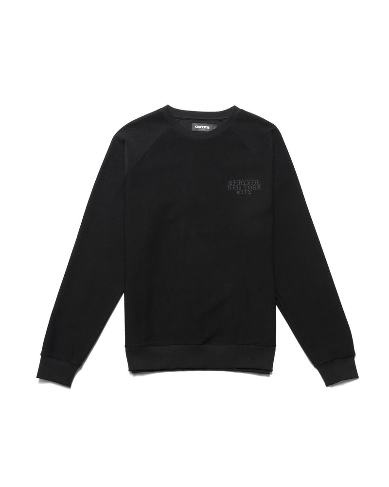Reversed Terry Crewneck Sweatshirt - Black