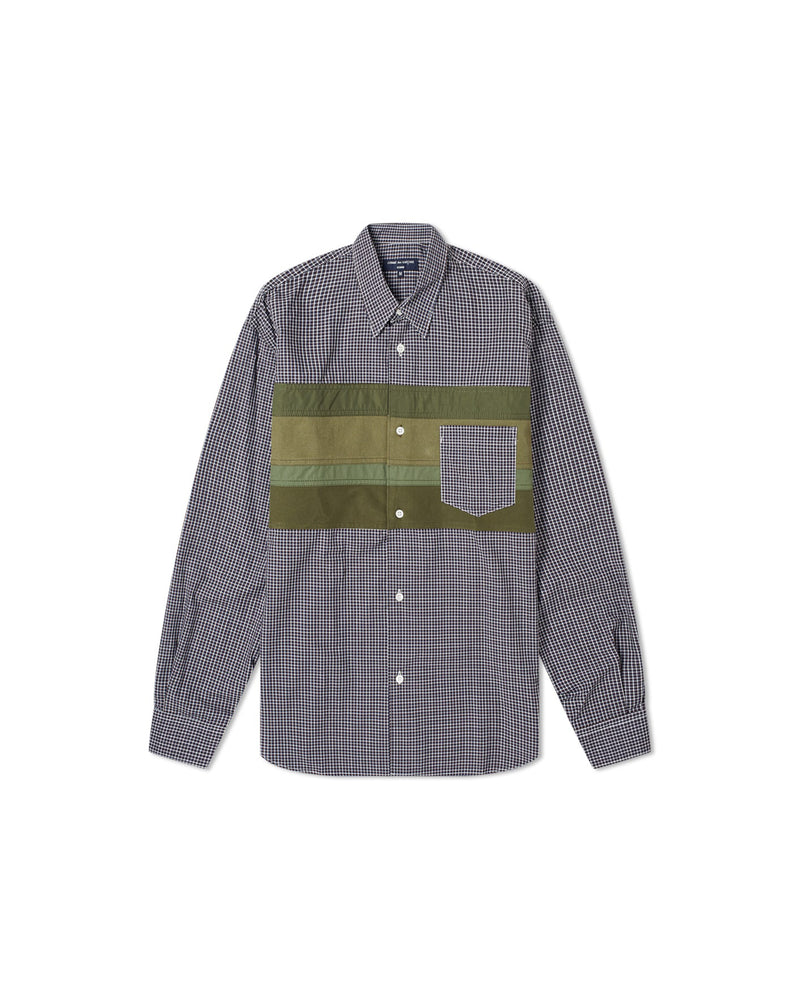 Striped Panel Shirt - Checked / Army