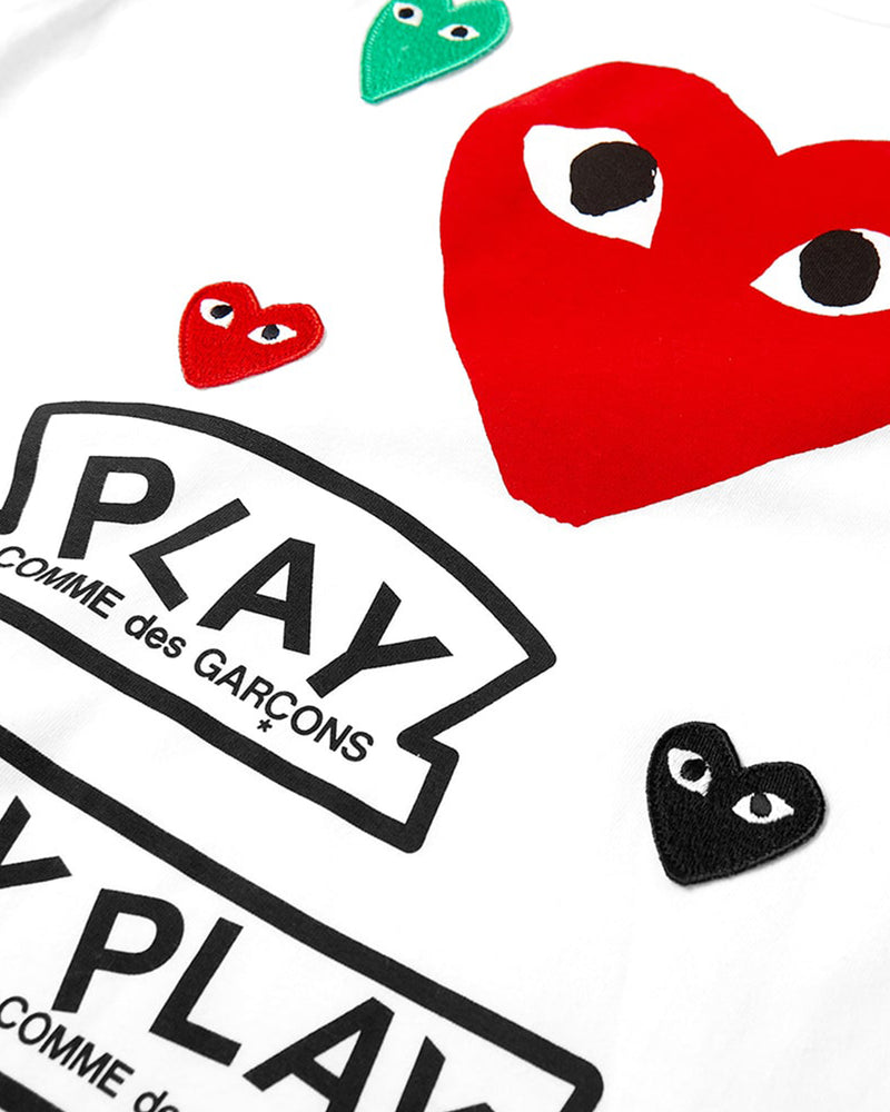 Big Heart T-Shirt - White / Red