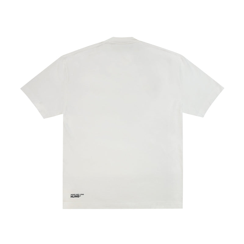 NUMB® / Highs And Lows - HIGH / LOW / NUMB T-SHIRT - White