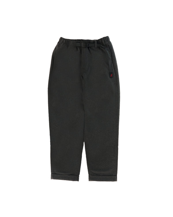 Wool Blend Tuck Tapered Pants - Heather Charcoal