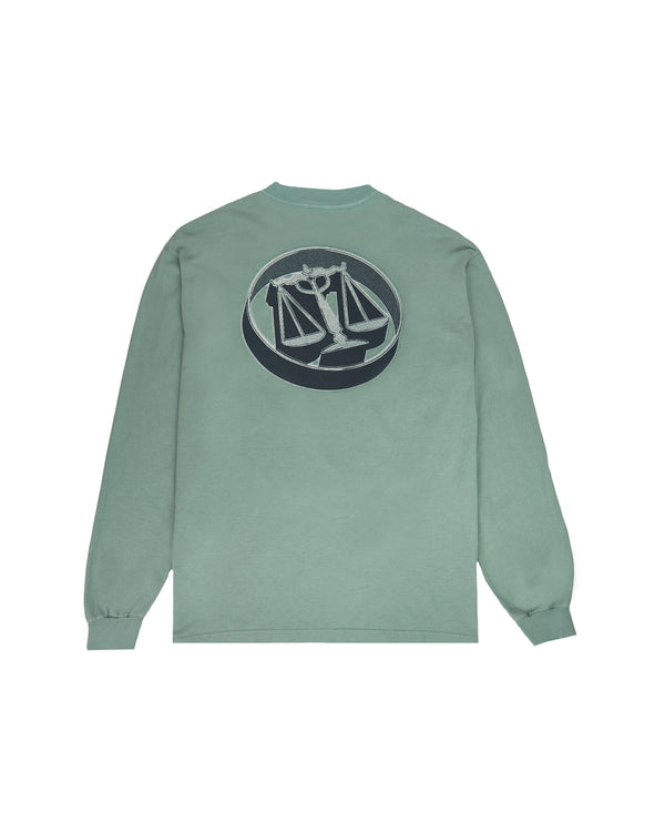 HAL W20 - Justice Scales L/S T-Shirt - Atlantic Green