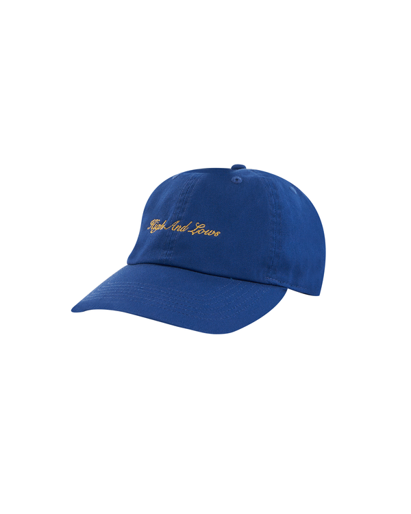 SS21 - GOLD SCRIPT LOGO BASEBALL CAP - ROYAL BLUE