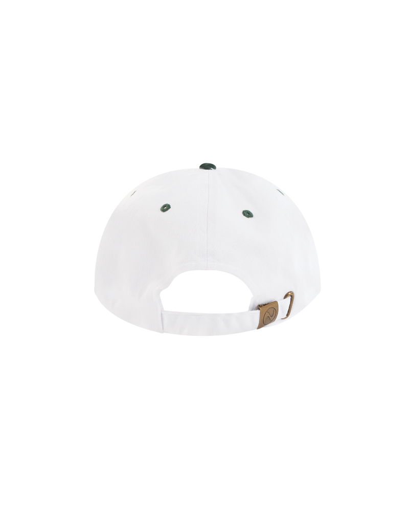 SS21 - HAL SPORTS BASEBALL CAP - WHITE/DARK GREEN