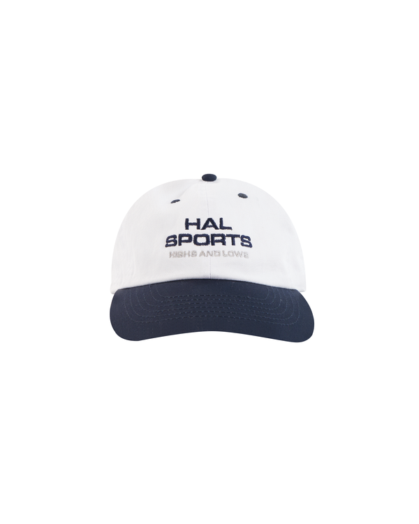 SS21 - HAL SPORTS BASEBALL CAP - WHITE/NAVY