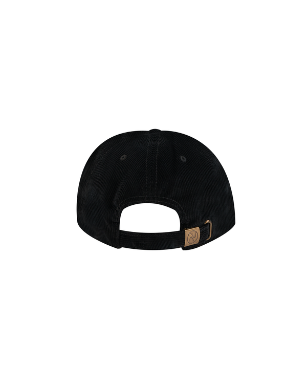 SS21 - HAL CORDUROY SUEDE BASEBALL CAP - BLACK/BROWN