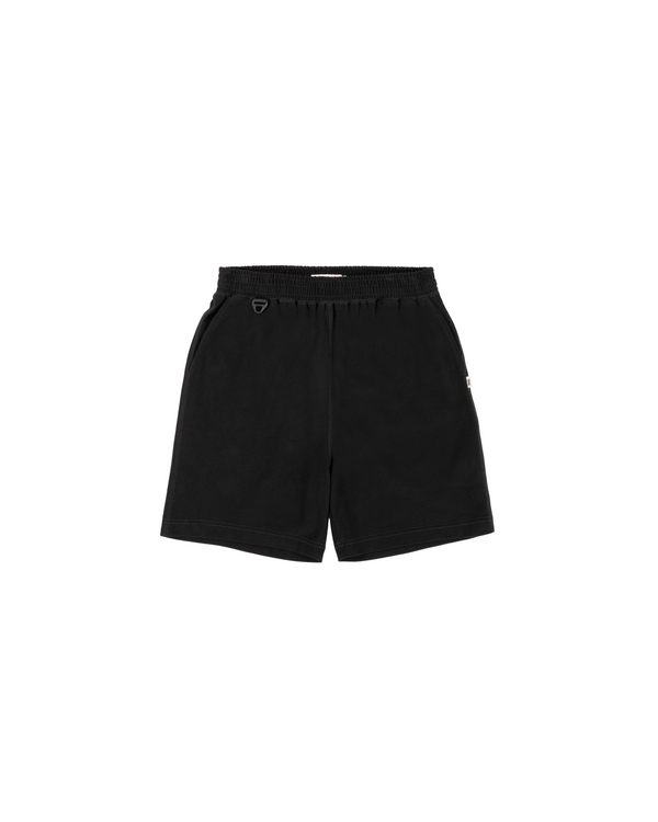HEAVYWEIGHT COMBED COTTON SHORT - BLACK