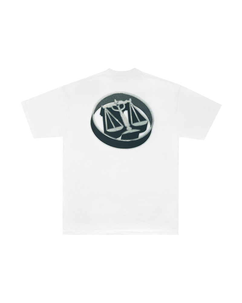 W20 3D Justice Scales T-Shirt - White