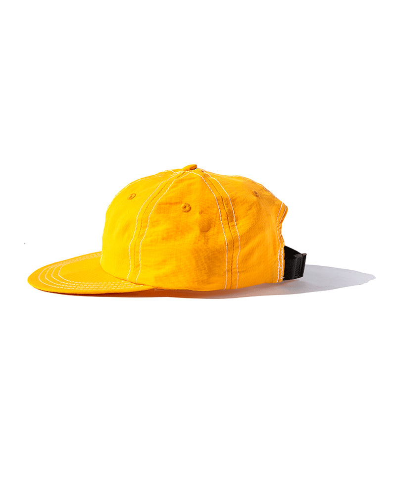 Six Panel Nylon Cap - Gold