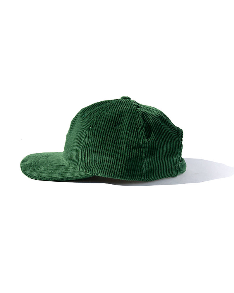 Six Panel Cord Cap - Green