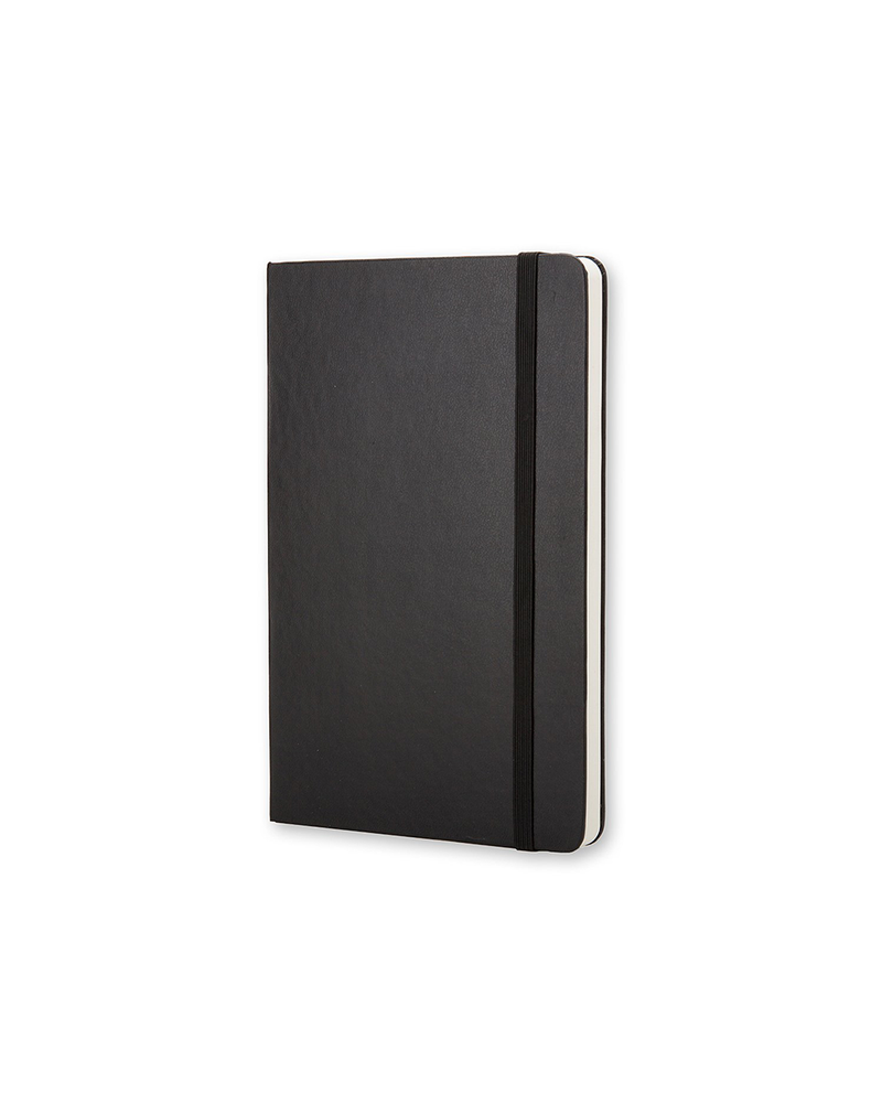 Hard Cover Large Plain Notebook - Black