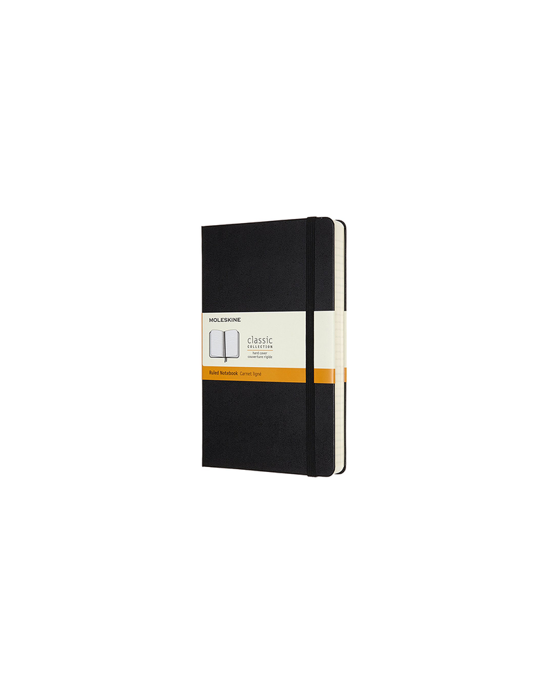 Hardcover Ruled Pocket Notebook - Black