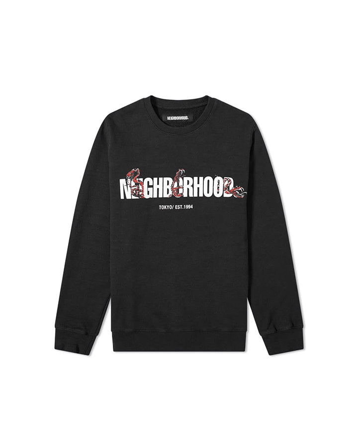 Neighborhood Slub C Crewneck Sweatshirt - Black