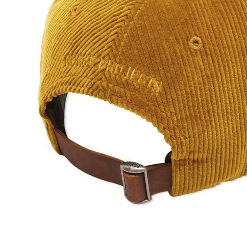 Norse Projects Wide Wale Cord Sports Cap - Yellow