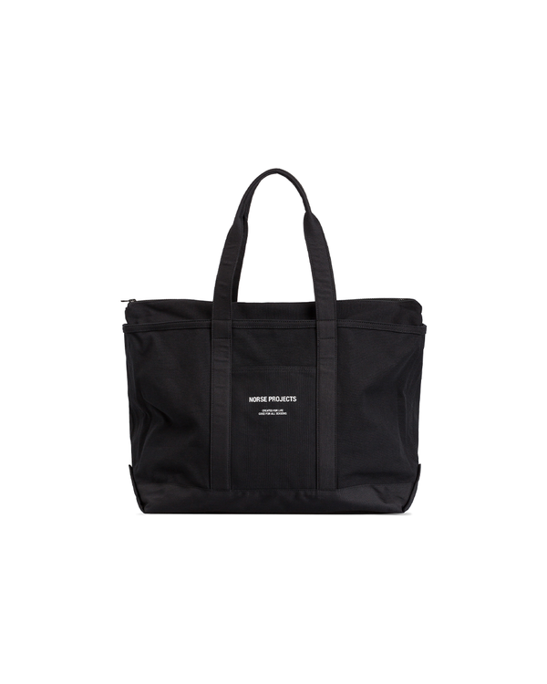 Stefan Canvas Tote Bag - Black