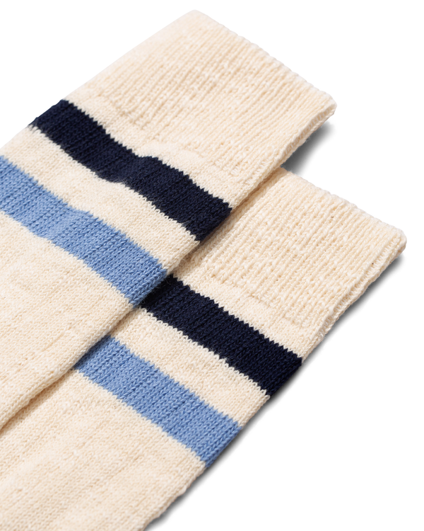 Bjarki Slub Stripe Sock - Clouded Blue