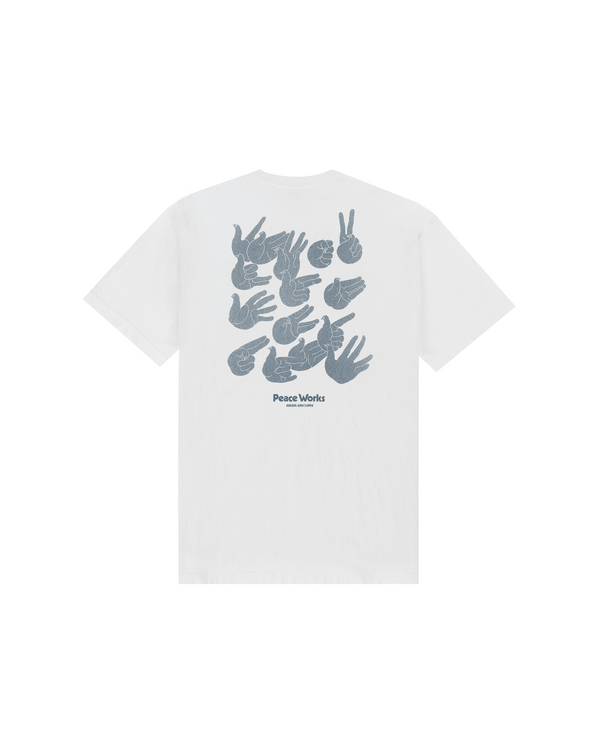 SS21 - PEACE WORKS T-SHIRT - WHITE