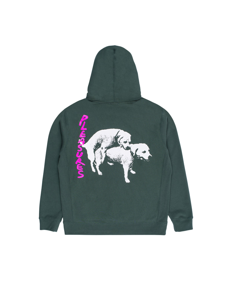 Hump Hooded Sweatshirt - Alpine Green / Pink